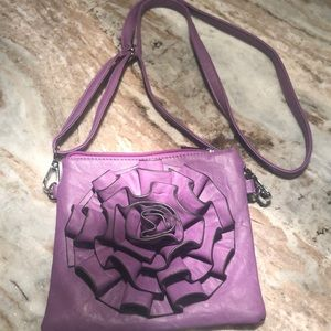 MELLON WORLD purple 💜 small bag with flower
